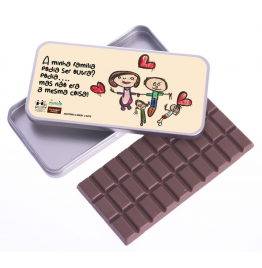 Can with Milk Chocolate Tablet (100g)
