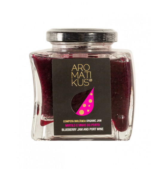 Organic Blueberry Compote with Port Wine - 215gr