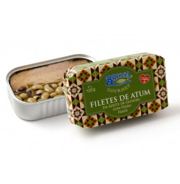 Tuna Fillets in Olive Oil with Black Eyed Peas - 120gr