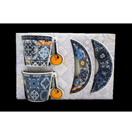 Set of Coffee Cups w/house Portuguese Guitar